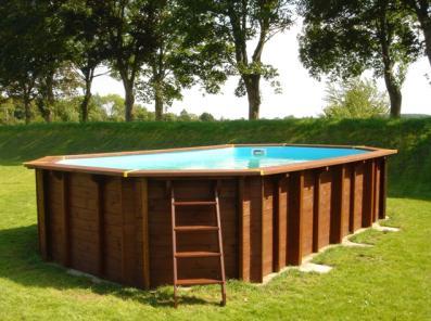 rivestimento in legno per piscina intex