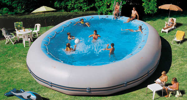 Piscine fuori terra seminterrabili a gommone zodiac for Costo per costruire una piscina olimpionica