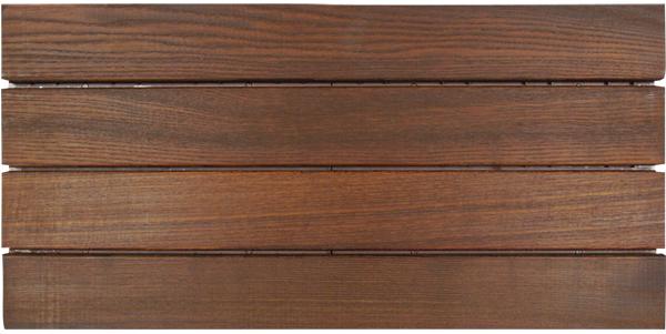 Pavimenti in legno per esterni in quadrotte e decking per - Piastrelle in legno da esterno ...