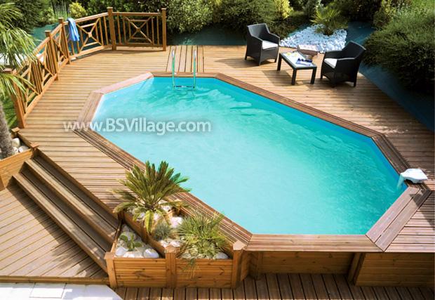 Le piscine fuori terra in legno blog piscine for Piscine fuori terra rivestite