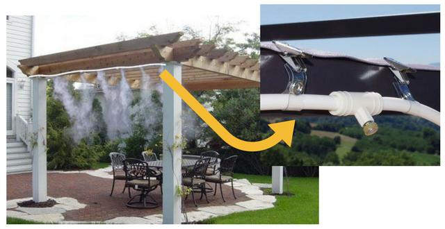Nebulizzatori d acqua per rinfrescarsi a bordo piscina piscine