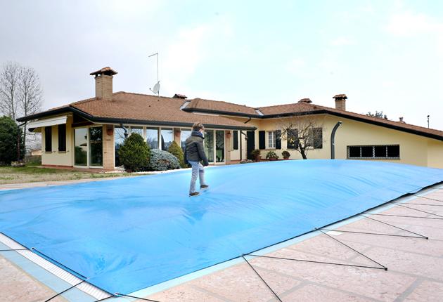 Elimina le pozze d 39 acqua con la copertura invernale di sicurezza aircover novit 2013 blog - Chiusura invernale piscina ...