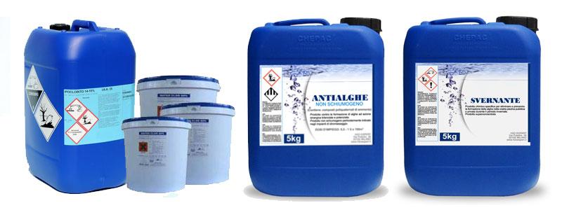 I contenitori dei prodotti chimici per piscina - Blog Piscine