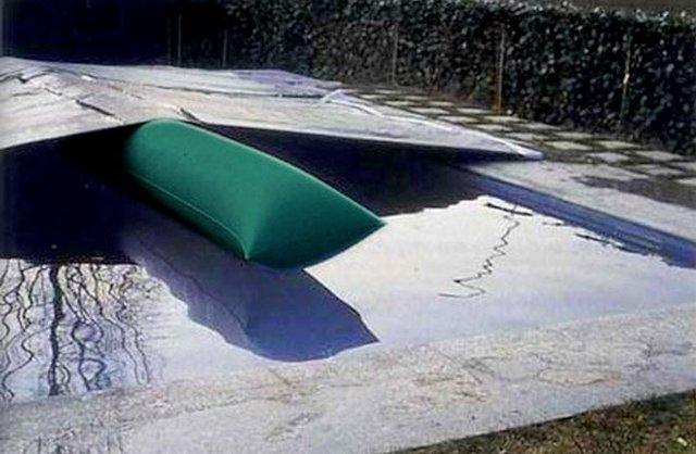 airtube per eliminare l'acqua stagnate dalle coperture invernali