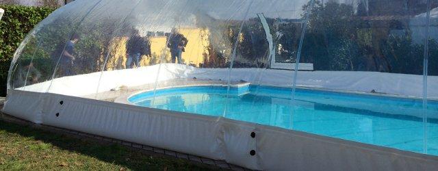Ancoraggio copertura gonfiabile per piscina