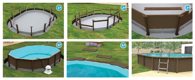 Scopri naturalis piscine fuori terra in cemento a effetto - Piscina fai da te legno ...