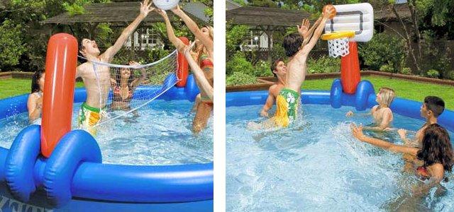 Giochi d 39 acqua di ogni tipo per piscina le migliori idee - Rete pallavolo piscina ...