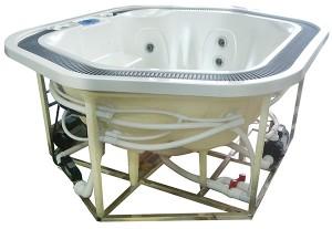 Struttura vasche idromassaggio a sfioro