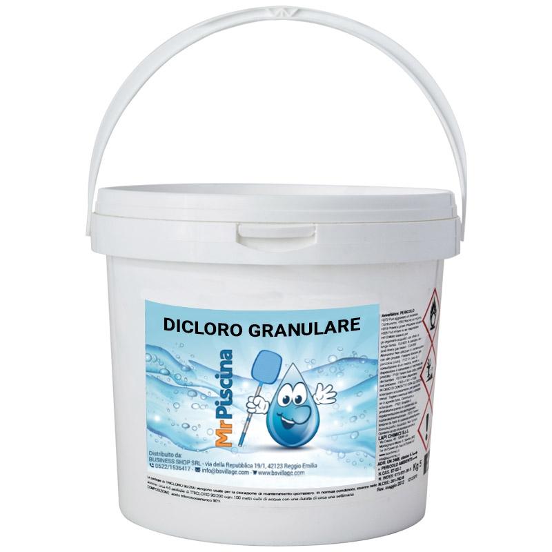 DICLORO GRANULARE per trattamento acqua piscina