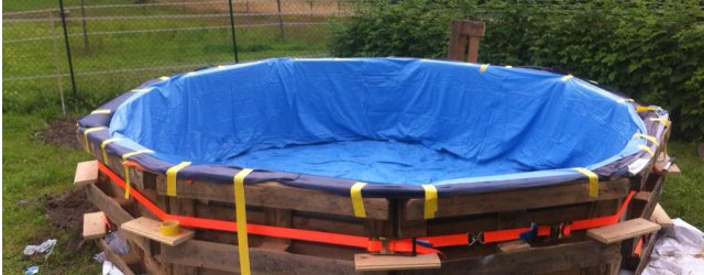 Costruire una piscina con i pallet ecco come fare - Piscina fai da te legno ...