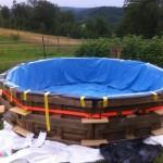 Piscina in pallet struttura