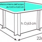 Dimensioni piscina Pistoche
