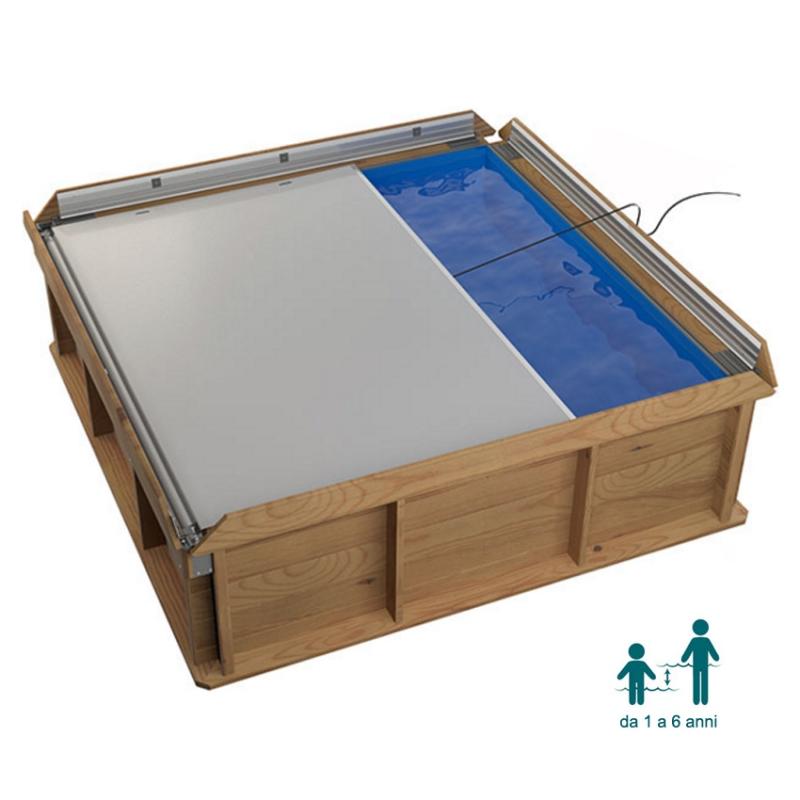 Piscina per bambini pistoche cresce insieme a loro blog piscine - Piscina fuori terra quadrata ...