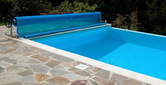 Copertura isotermica per piscina esterna