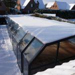coperture telescopiche per piscine neve