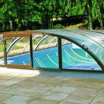 coperture telescopiche basse per piscine