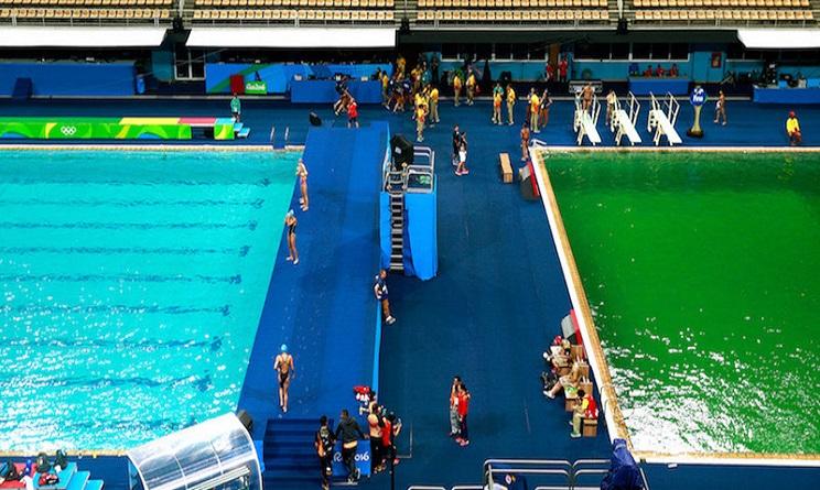 Rio 2016 e il mistero dell 39 acqua verde in piscina blog piscine - Piscina olimpiadi ...