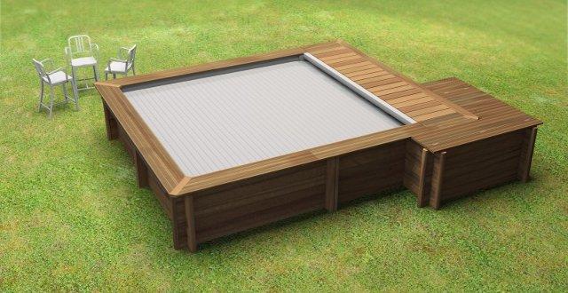Piscina in legno urban un vero gioiello per la tua casa - Piscina fuori terra quadrata ...