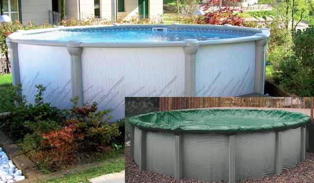 chiusura invernale delle piscine fuori terra rigide