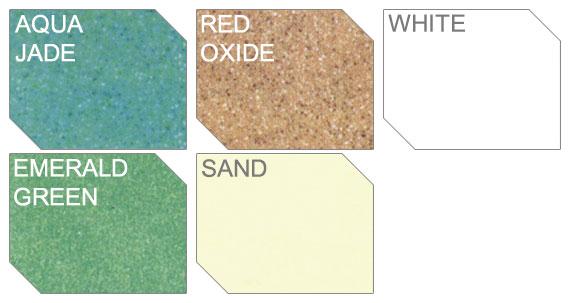 Colorazioni disponibili per piscine in vetroresina Calypso
