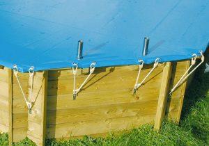 Copertura invernale per manutenzione piscina fuori terra