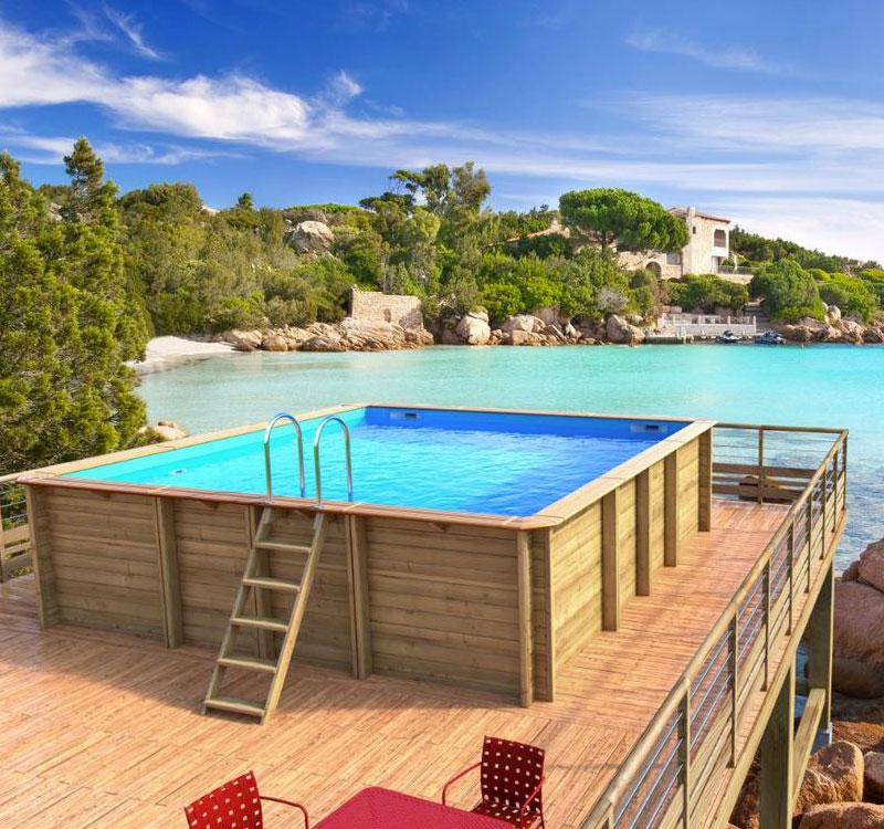 Manutenzione piscina fuori terra in legno consigli e soluzioni - Pulizia piscina fuori terra ...