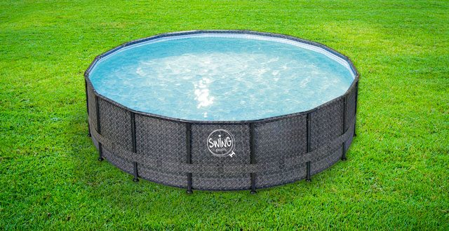piscina fuori terra swing wicker
