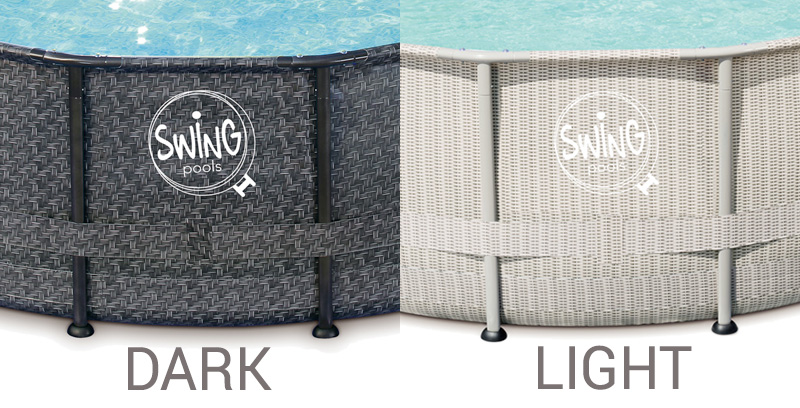 Piscina Fuori Terra Swing Frame Wicker Tra Design E
