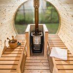 interno saune da esterno a botte