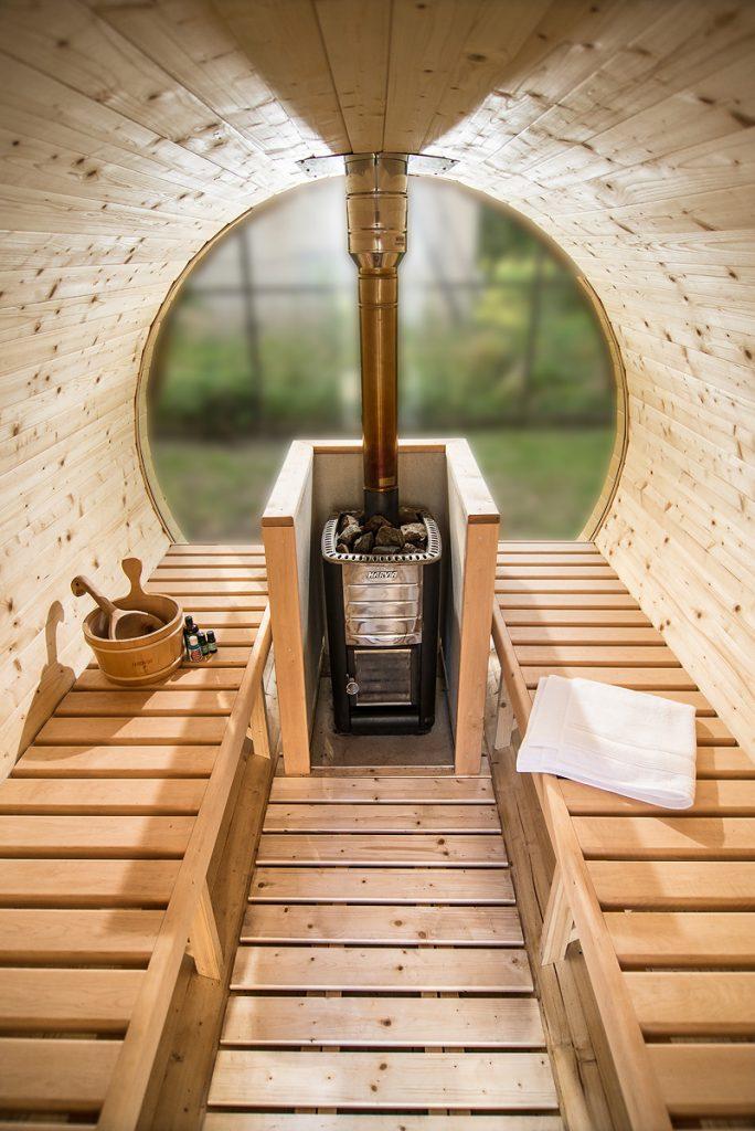interno saune da esterno a botte - Blog Piscine