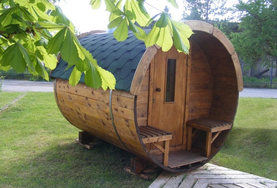 Saune da esterno a botte