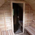 spogliatoio saune da esterno a botte