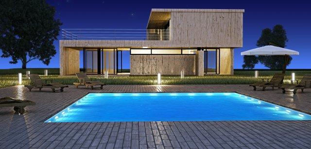 illuminazione piscina subacquea a filo