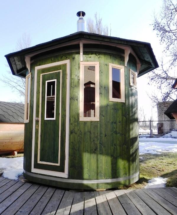 saune da esterno a cabina