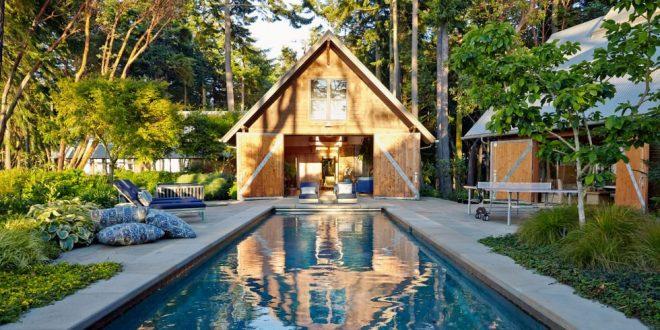 casette in legno a bordo piscina