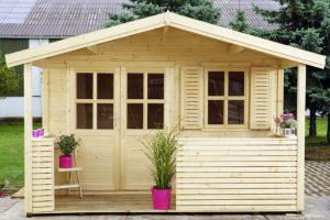 casette in legno con veranda