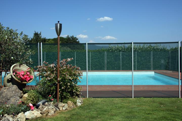 rete per la sicurezza in piscina