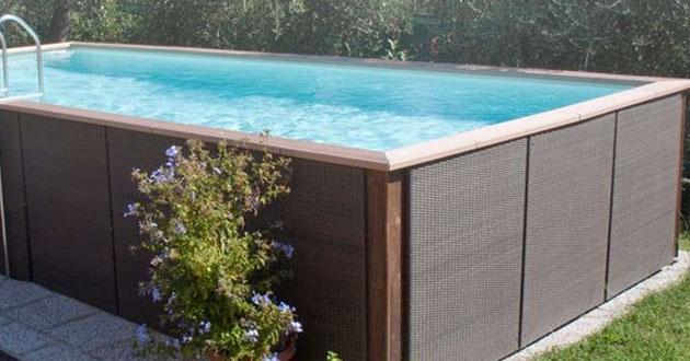 Rivestimento In Legno Per Piscine Fuori Terra : Piscine rivestite in legno: look personalizzabili senza opere edili