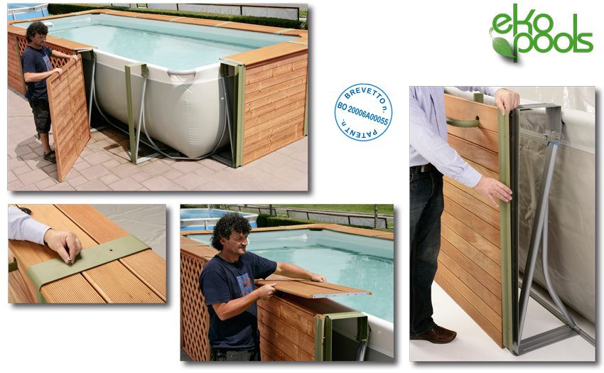 montaggio piscine rivestite in legno