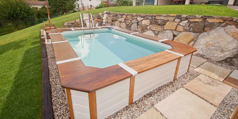 Piscine rivestite in legno look personalizzabili senza - Piscine fuori terra rivestite ...