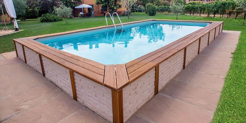 Piscine rivestite in legno look personalizzabili senza for Piscine fuori terra rivestite
