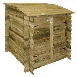 locale tecnico fuori terra in legno