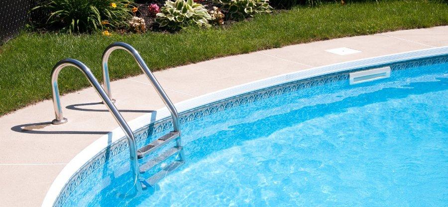 scaletta per piscina interrata