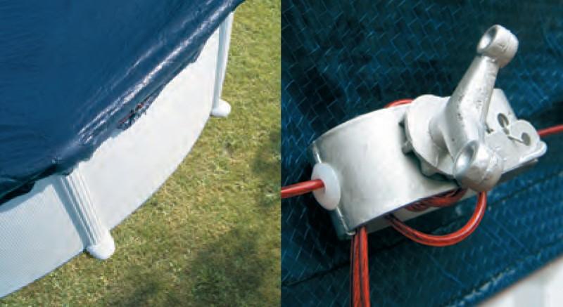 8 consigli per proteggere la copertura invernale per la for Copertura invernale piscina gre