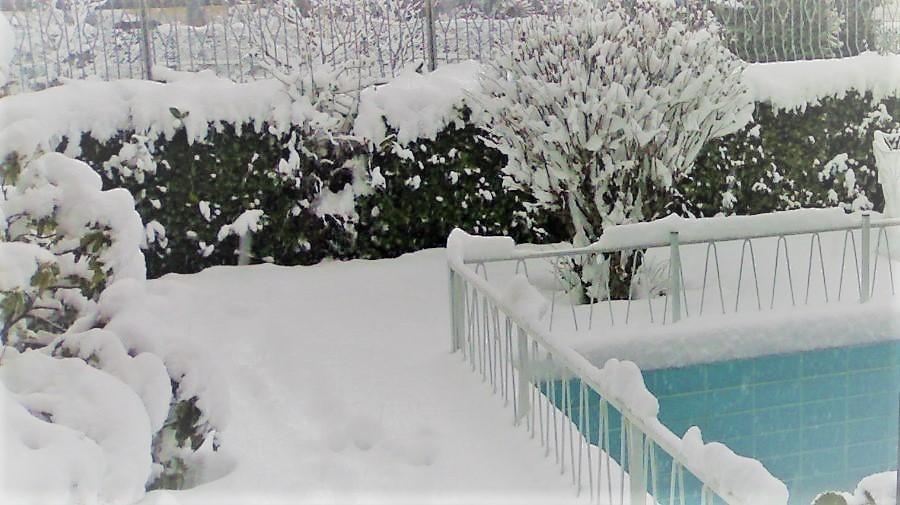 rimuovi la neve per proteggere decking