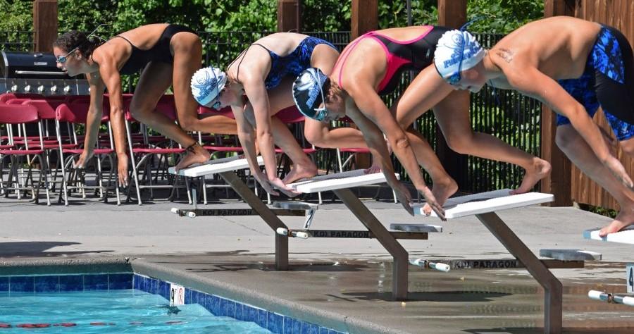 blocchi di partenza per piscine pubbliche