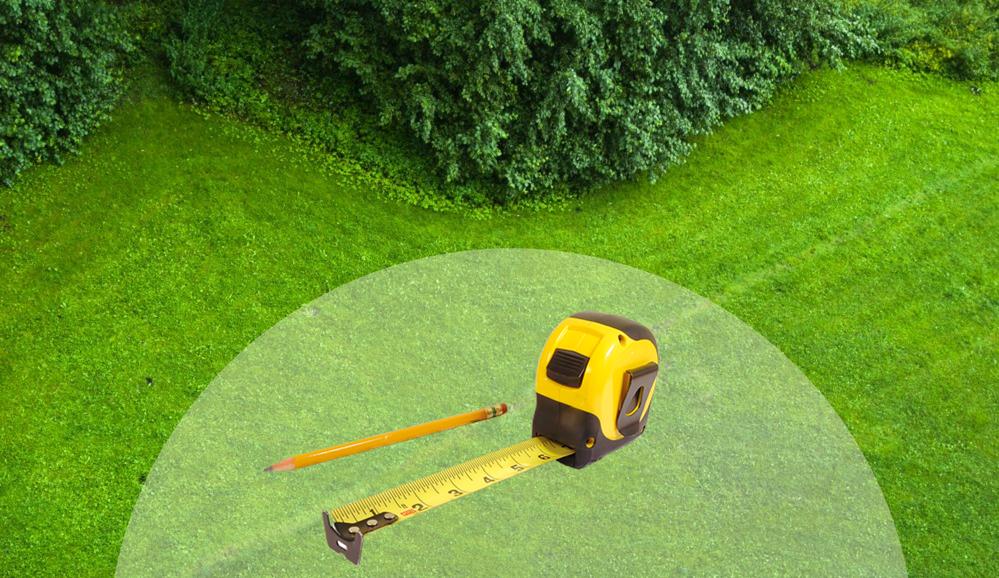 misurazione spazio giardino