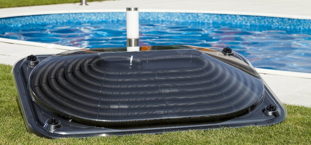Collettore solare per riscaldare la piscina