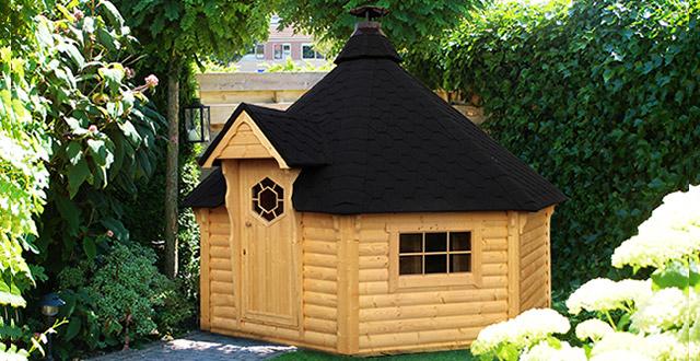 Sauna finlandese da esterno tradizionale