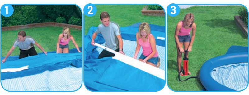 montaggio piscine gonfiabili ovali